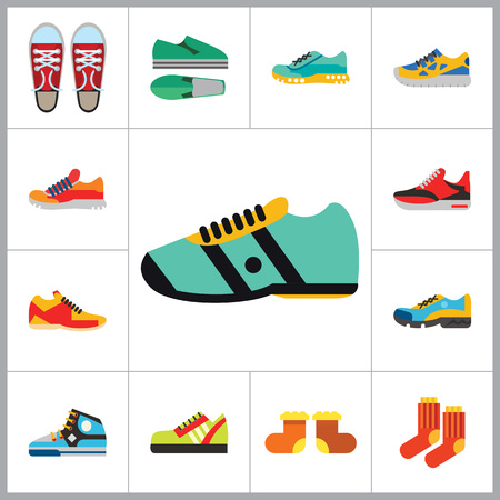 valenki: Shoes Icon Set. Sneakers Summer Shoes Sport Shoe Trainer Jogging Shoe Gymshoe Running Shoe Football Shoe Basketball Shoe Socks Valenki Plimsoll