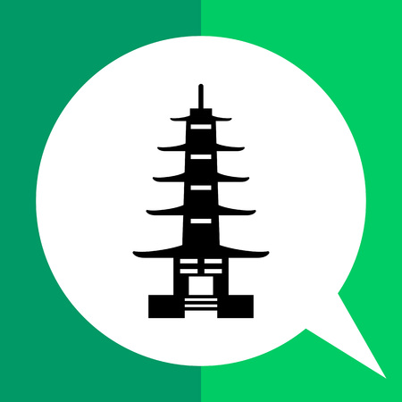 Pagoda icon Illustration