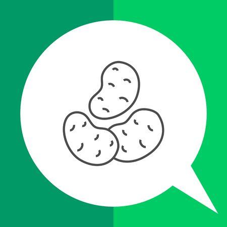 starchy food: Potatoes icon Illustration