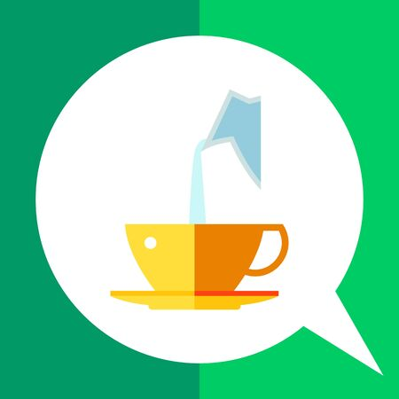 Icon of milk being poured from decanter into coffee cup
