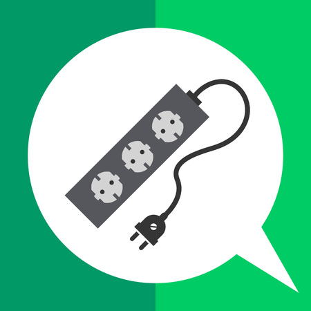 overload: Icon of power extension cord