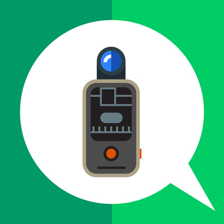 trigger: Vector icon of camera remote flash trigger