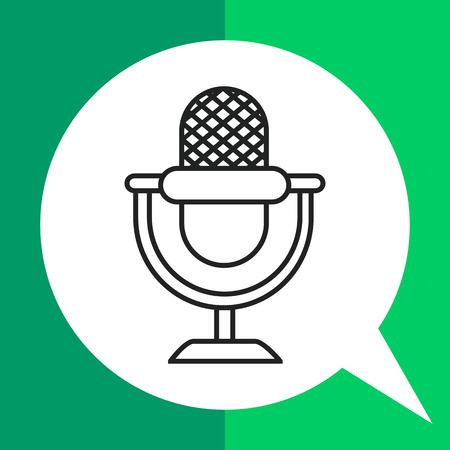 voices: Retro microphone icon