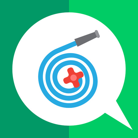 rolled up: Vector icon of rolled up garden hose