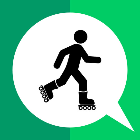 Roller skating man. Fun, recreation, skill. Roller skating concept. Can be used for topics like sport, lifestyle, rollerskating. Illustration