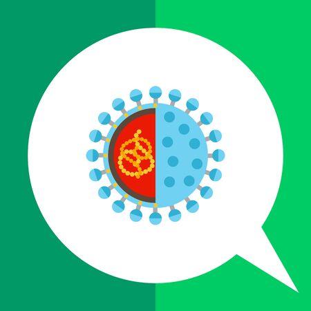 Rotavirus icon. Multicolored vector illustration of microorganism caused rotavirus infection Illustration