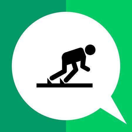 Vektor-Symbol der Läufer in Startposition