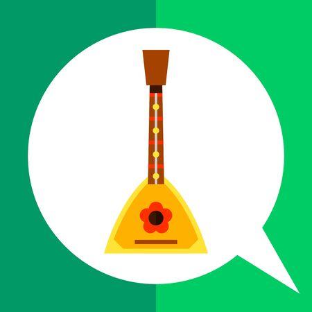 balalaika: Multicolored vector icon of Russian balalaika, traditional string instrument Illustration