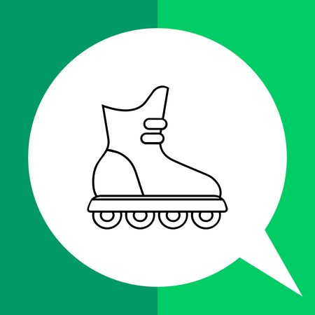 rollerblading: Roller blade icon. Flat illustration of shoe for rollerblading Illustration