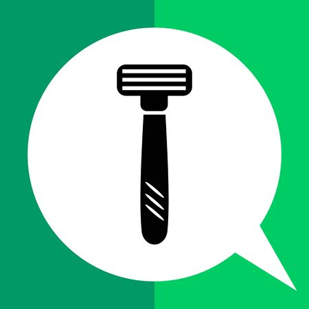 Vector icon of safety razor with tree blades