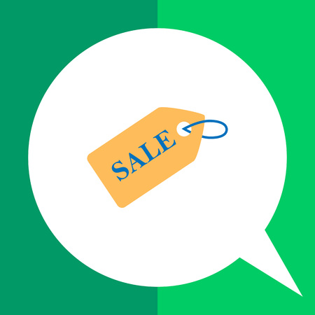 Icon of sale tag Illustration