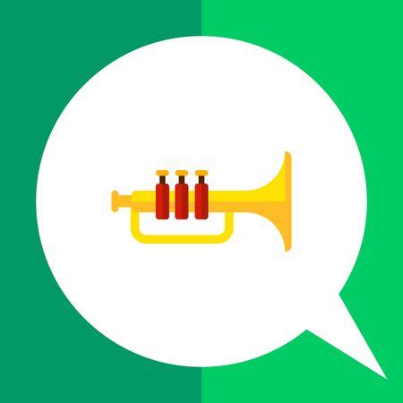 Multicolored vector icon of classic shiny trumpet