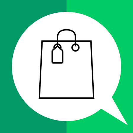 Icon of shopping bag with tag