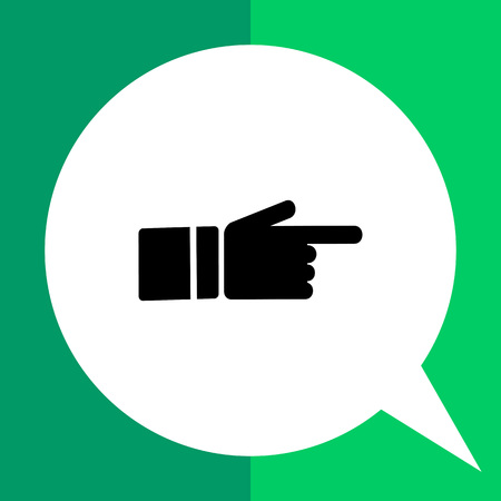 index: Monochrome simple icon of showing index finger Illustration
