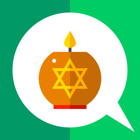 holocaust: Multicolored vector icon of star of David candle