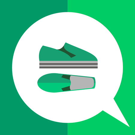 Summer shoes flat icon. Multicolored vector illustration of modern shoes