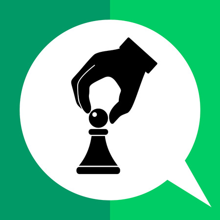 Hand with chess piece. Tactics, approach, success, strategy. Tactics concept. Can be used for topics like business, startup, strategy, success