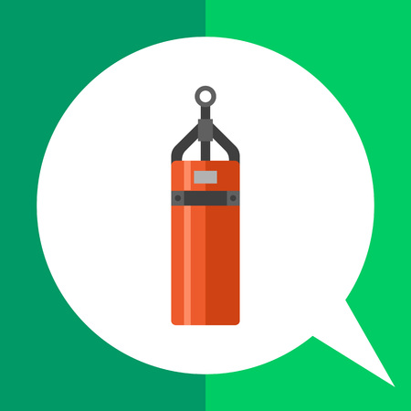 punching: Multicolored vector icon of cylindrical punching bag Illustration