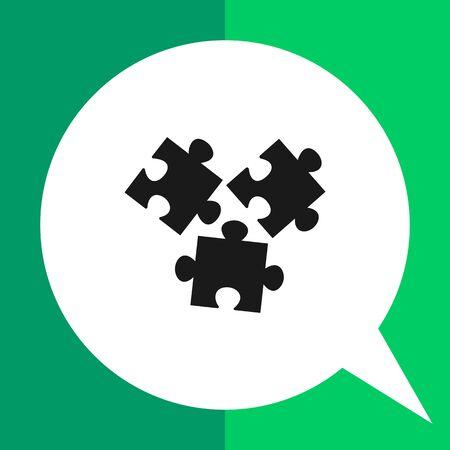 Vector-Symbol unzusammenhängender Puzzle-Elemente Illustration