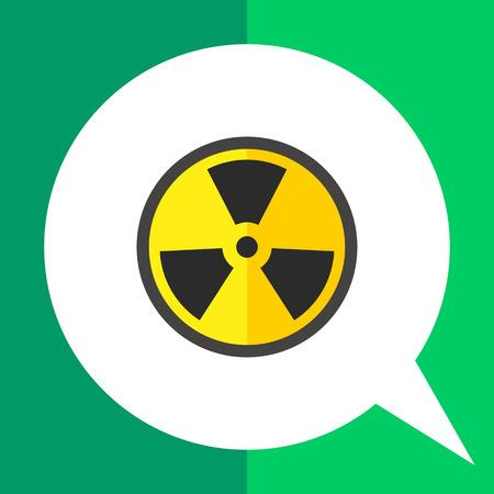 Multicolored vector icon of black and yellow international radiation hazard symbol Illustration