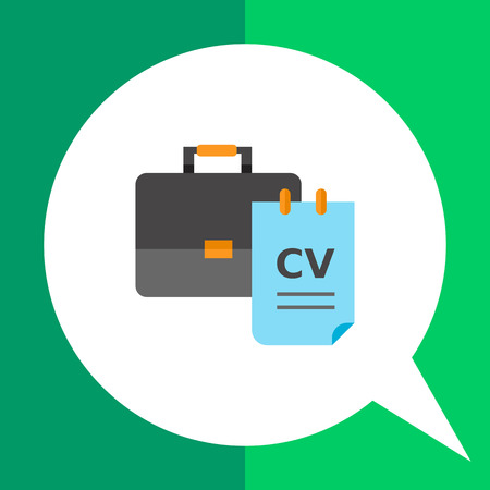 recruiting: Briefcase and CV. Interview, career, Recruiting concept. Can be used for topics like business, management, recruitment.