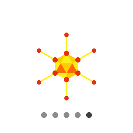 epidemiology: Adenovirus flat icon. Multicolored vector illustration of adenovirus caused respiratory illnesses Illustration