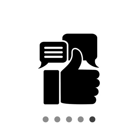 approving: Thumb up silhouette. Appreciations, estimate, recognition, value. Appreciation concept. Can be used for topics like business, startup, rating, e-commerce Illustration