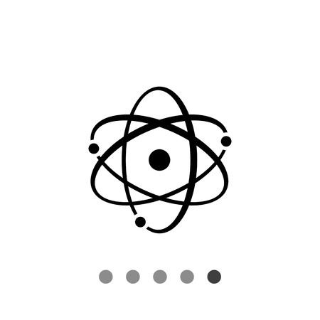 Icon of atom model Illustration