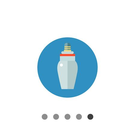 Multicolored vector icon of baby bottle with nipple