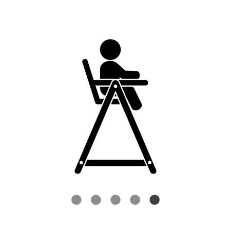 child sitting: Child sitting in high chair for feeding. Baby chair, childhood, furniture. Baby concept. Can be used for topics like childhood, baby feeding, furniture