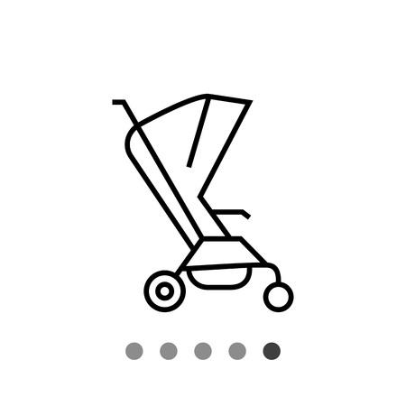 baby stroller: Baby stroller icon