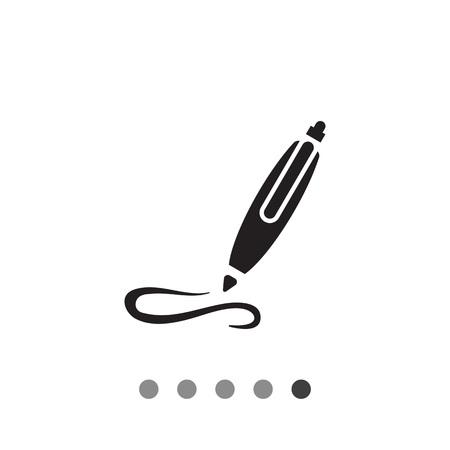 ball pen: Icon of writing ball pen Illustration