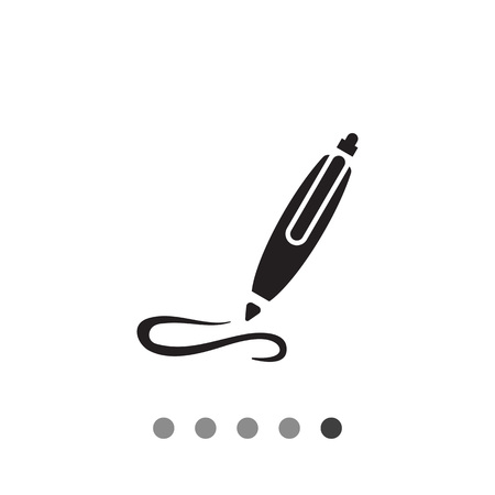 Icon of writing ball pen Illustration
