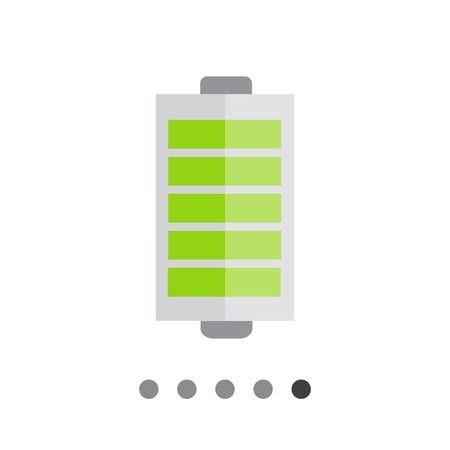 charge: Icon of battery with charge indication