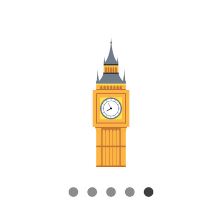 Icon of Big Ben tower Illustration