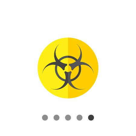 threat: Biohazard sign icon. Multicolored vector illustration of biological threat symbol Illustration