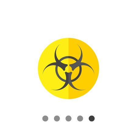 threat: Biohazard sign icon. Multicolored vector illustration of biological threat symbol Illustration