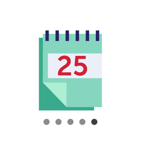 calendar page: Icon of block calendar with date page Illustration