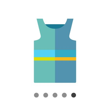 singlet: Multicolored vector icon of blue singlet with yellow stripe