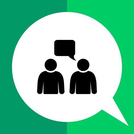 communication talk: Two persons talking. Talk, conversation, communication. Talk concept. Can be used for topics like communication, conversation, negotiation