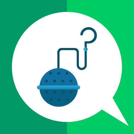 strainer: Multicolored vector icon of special strainer for brewing tea