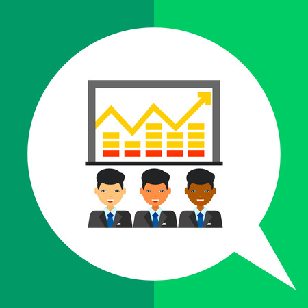 multinational: Three multinational men with graph above showing growth. Progress, cooperation, partnership. Team efficiency concept. Can be used for topics like business, management, banking, finance.