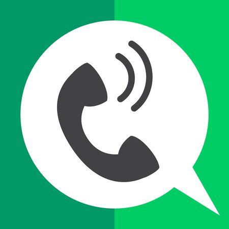 Telephone receiver icon Illustration