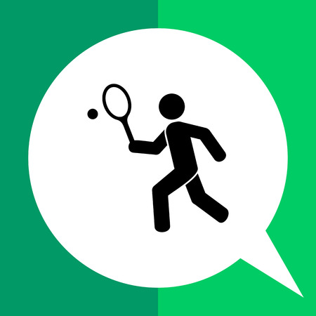 Man playing tennis. Game, leisure, fun. Tennis concept.