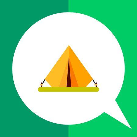 Tent icon. Multicolored vector illustration of portable tent Illustration