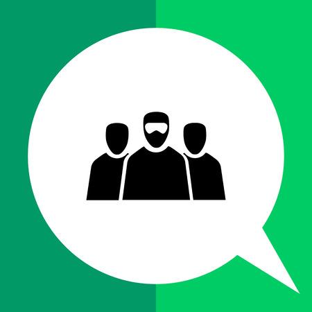 terrorists: Terrorism flat icon. Vector illustration of three terrorists in mask