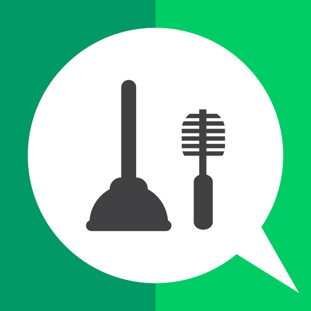 Icon of plunger and toilet brush