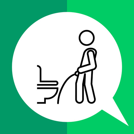 Icon of man silhouette urinating in public restroom