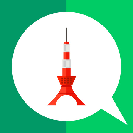 Image of Japanese tower Tokyo Skytree painted in red and white