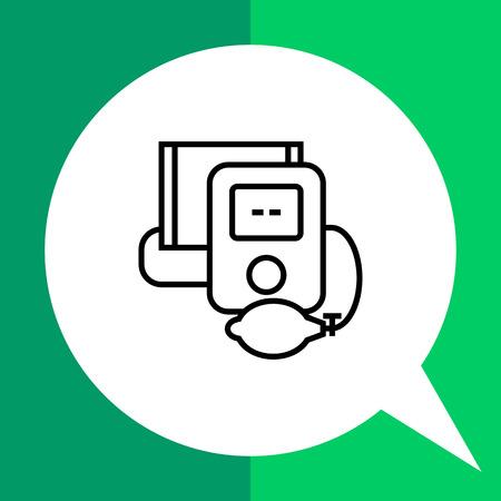hypotension: Tonometer icon